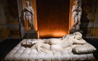 Bernini. Μόλις ξεκίνησε η έκθεση με τίτλο το όνομά του, στην Galleria Borghese της Ρώμης. Οι επισκέπτες μέχρι τις 4 Φεβρουαρίου 2018 έχουν την δυνατότητα να απολαύσουν αριστουργήματα όπως τον Κοιμώμενο Ερμαφρόδιτο του σπουδαίου γλύπτη  Gian Lorenzo Bernini. EPA/ALESSANDRO DI MEO