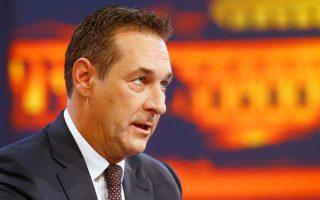 Ο επικεφαλής του ακροδεξιού Κόμματος της Ελευθερίας Χάιντς Κρίστιαν Στράχε στην αυστριακή τηλεόραση.