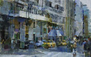 Εργο του Γιάννη Αδαμάκη από την ομαδική έκθεση «Αγορά» στο Mall Athens.
