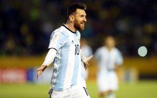 Ο Λιονέλ Μέσι σκόραρε και τα τρία τέρματα της Αργεντινής στον Ισημερινό και χάρισε στη χώρα του τη νίκη με 3-1 και, παράλληλα, την πρόκριση στο Παγκόσμιο Κύπελλο της Ρωσίας.