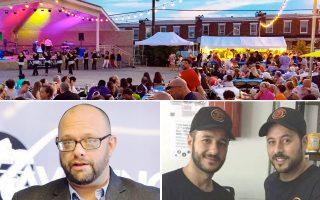 Σε 14 πολιτείες, κυρίως σε ορθόδοξες εκκλησίες, διοργανώνονται... μνημειώδη φεστιβάλ ελληνικού φαγητού. Αριστερά, ο Γιώργος Αλεξανδρόπουλος, που εγκαινίασε το ελληνικό «Navarino Bay» στο Χάντιγκτον της Δυτικής Βιρτζίνια. Από τη Σπάρτη στο Χάρτσντεϊλ της Νέας Υόρκης, οι 31χρονοι φίλοι Ηλίας Χίος και Γιάννης Παπαγεωργίου (δεξιά) αποφάσισαν να κινηθούν παραδοσιακά.