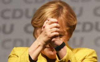 Η Αγκελα Μέρκελ συμμετείχε στην προεκλογική εκστρατεία στην Κάτω Σαξονία.