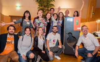 Η ομάδα φοιτητών του Πανεπιστημίου Αιγαίου, στο Global Humanitarian Tech Hackathon 2017 στο CERN.