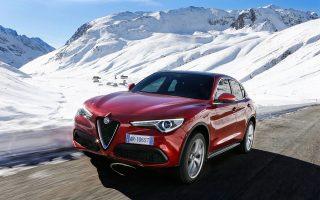 Γοητευτικό και με ξεχωριστή σχεδίαση το περίγραμμα του Alfa Romeo Stelvio.