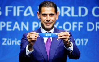 O ζωντανός θρύλος της Ρεάλ, Φερνάντο Ιέρο, τράβηξε την Ελλάδα και την Κροατία από την κληρωτίδα, χθες, στα γραφεία της FIFA στη Ζυρίχη.