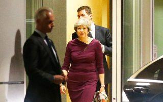 Η Βρετανίδα πρωθυπουργός Τερέζα Μέι μετά τη συνάντησή της με τον Ζαν-Κλοντ Γιούνκερ, την περασμένη Δευτέρα.