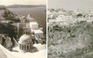 Φωτογραφίες από παλιές καρτ ποστάλ και τον μικρό ασπρόμαυρο τουριστικό οδηγό της εποχής. Το '70 πολύ λίγοι τουρίστες επισκέπτονταν το νησί.