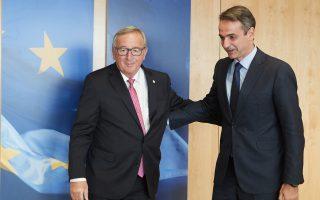 Περί τα σαράντα λεπτά διήρκεσε η χθεσινή συνάντηση των κ. Ζαν-Κλοντ Γιούνκερ και Κυρ. Μητσοτάκη, στις Βρυξέλλες.