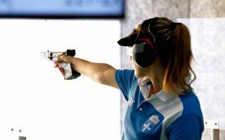 Η Ελληνίδα Ολυμπιονίκης ήλθε 5η στο αεροβόλο των 10 μ. Σήμερα θα δοκιμάσει στο σπορ πιστόλι.