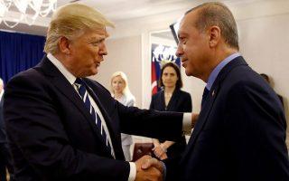 Συνάντηση Τραμπ - Ερντογάν στο περιθώριο της συνόδου του ΟΗΕ. Οι προσδοκίες για επανεκκίνηση των αμερικανοτουρκικών σχέσεων διαψεύστηκαν από τις εξελίξεις. Ωστόσο, η αντιπαράθεση δεν ευνοεί καμία από τις δύο χώρες.