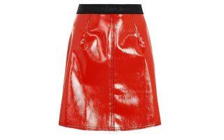 Kόκκινη φούστα με μαύρο λάστιχο €100,96