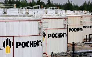 Δεξαμενές πετρελαίου της Rosneft στην πόλη Πριβοντίνο, νότια του Αρχάγγελου.