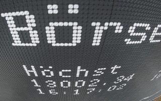 Για πρώτη φορά στην 30χρονη ιστορία του ο δείκτης Xetra DAX ξεπέρασε τις 13.000 μονάδες.