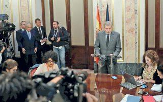 Η ισπανική κυβέρνηση «θα προχωρήσει στα μέτρα του άρθρου 155 του συντάγματος για την αποκατάσταση της νομιμότητας», δήλωσε ο εκπρόσωπός της.