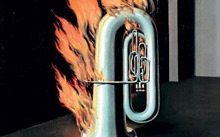 ΒΡΥΞΕΛΛΕΣ: © Sean Landers, Captain Homer (Seven pipes for seven seas), 2016, © Courtesy of the artist and Rodolphe Janssen, René Magritte, The Discovery of Fire, 1934 or 1935, © 2017, Charly Herscovici c/o SABAM.