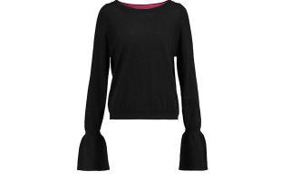 Πλεκτό πουλόβερ με μανίκια καμπάνα €166,25