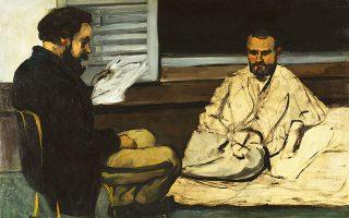 Φωτογραφία: ΛΟΝΔΙΝΟ: Paul Cezanne: Paul Alexis Reading a Manuscript to Emile Zola, 1869-70 © Μuseo de Arte de Sao Paulo Assis Chaeabriand.