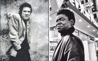 Αριστερά, ο Τζόνι Ρότεν των Sex Pistols. Δεξιά, ο ερμηνευτής της σόουλ Τσαρλς Μπράντλεϊ.