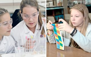 Μαθητές της Ε΄ και ΣΤ΄ Δημοτικού πειραματίζονται με τη Χημεία συμμετέχοντας στο «Kids' Lab» της BASF, ένα από τα εκπαιδευτικά προγράμματα, το οποίο «τρέχει» στις εγκαταστάσεις του Εθνικού Κέντρου Ερευνας Φυσικών Επιστημών «Δημόκριτος», που οργανώνει αντίστοιχα εργαστήρια Βιολογίας.