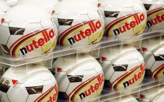 Συσκευασία Nutella σε σχήμα ποδοσφαιρικής μπάλας, που είχε κυκλοφορήσει επί τη ευκαιρία παλαιότερου Μουντιάλ.