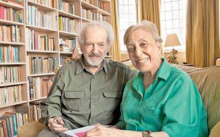 Ο αείμνηστος Nicholas Egon και η Matti Egon - Ξυλά, η οποία ίδρυσε την Ελληνική Αρχαιολογική Επιτροπή της Μ. Βρετανίας.