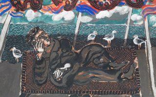 Έργο του Τάσου Μαντζαβίνου από τη νέα ενότητα που εκθέτει στη Skoufa Gallery έως τις 4/12.