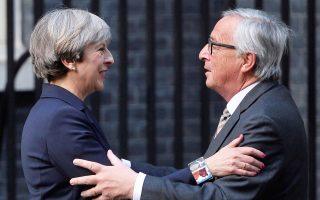 Επιβεβαιώθηκε η συνάντηση μεταξύ της πρωθυπουργού Τερέζα Μέι, του προέδρου της Ευρωπαϊκής Επιτροπής Ζαν-Κλοντ Γιούνκερ και του επικεφαλής της διαπραγματευτικής ομάδας της Ε.Ε. για το Brexit Μισέλ Μπαρνιέ, στις 4 Δεκεμβρίου.