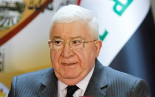 Ο πρόεδρος του Ιράκ, Φουάντ Μασούμ, σε συνέντευξη Τύπου που παρέθεσε χθες στο Κιρκούκ.