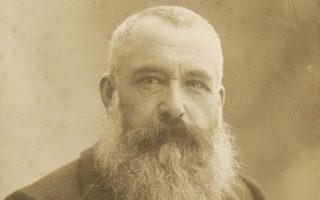 Φωτογραφία του 1899 που απεικονίζει τον ζωγράφο Κλοντ Μονέ.