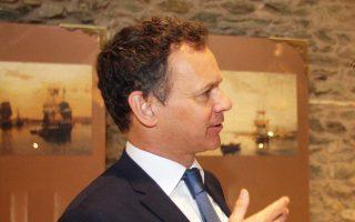 Ο πρέσβης της Ολλανδίας Κάσπαρ Βέλντκαμπ στο συνέδριο αγροτικής επιχειρηματικότητας του Economist στη Θεσσαλονίκη τον Μάρτιο.