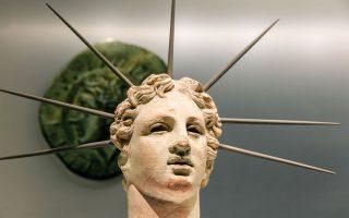 Ακτινοφόρος κεφαλή Ηλίου 150 – 100 π.Χ. © Ρόδος, Παλάτι Μεγάλου Μαγίστρου (Φωτο: Πάρις Ταβιτιάν)