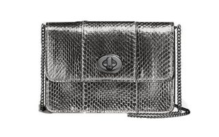 Snakeskin τσάντα με μεταλλική υφή €333,00