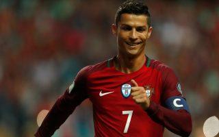 Football Soccer - Portugal v Faroe Islands - World Cup 2018 Qualifiers - Bessa Stadium, Porto, Portugal - August 31, 2017. Portugal's Cristiano Ronaldo celebrates his second goal against Faroe Islands. REUTERS/Rafael Marchante
