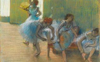 Φωτογραφία: ΛΟΝΔΙΝΟ: Hilaire-Germain-Edgar Degas: «In the Tuileries Gardens», The Burrell Collection 1880 και «Dancers on a Bench», 1898 © CSG CIC Glasgow Museums Collection.