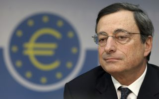Mario Draghi, president of the European Central Bank (ECB), pauses during his first news conference at the bank's headquarters in Frankfurt, Germany, on Thursday, Nov. 3, 2011. The European Central Bank unexpectedly cut interest rates at Draghi's first meeting in charge as the new ECB head signaled officials have no plans to help bail out cash-strapped nations facing an escalating debt crisis that threatens to splinter the euro region. Photographer: Hannelore Foerster/Bloomberg *** Local Caption *** Mario Draghi