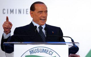 Μολονότι έχει υποβληθεί σε χειρουργική επέμβαση ανοικτής καρδιάς, ο Μπερλουσκόνι εκστράτευσε δυναμικά στη Σικελία.