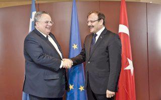 Για την προετοιμασία του επόμενου Ανωτάτου Συμβουλίου Συνεργασίας Ελλάδας - Τουρκίας στη Θεσσαλονίκη συζήτησαν χθες οι κ. Νίκος Κοτζιάς και Χακάν Τσαβούσογλου.