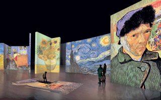Το ψηφιακό περιβάλλον της έκθεσης με τα έργα του Βίνσεντ Βαν Γκογκ προσφέρει μια νέα εμπειρία που ενισχύεται από τις δυνατότητες της προηγμένης τεχνολογίας.