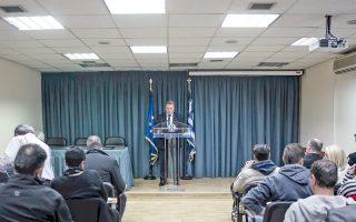 Συνέντευξη Τύπου δόθηκε στο κτίριο της ΓΑΔΑ, χθες, για την εξιχνίαση της δολοφονίας Ζαφειρόπουλου στο γραφείο του στις 12 Οκτωβρίου.