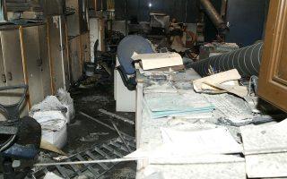 Οι καταστροφές σε χώρους των ΑΕΙ και σε γραφεία καθηγητών (η φωτ. από το ΑΠΘ) έχουν αυξηθεί τον τελευταίο καιρό.