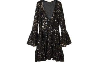 Φόρεμα με βολάν στολισμένο με αστέρια €220,00