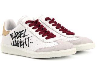 Λευκά sneakers με δερμάτινες λεπτομέρειες €320,00