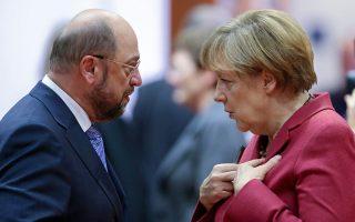 Μάρτιν Σουλτς και Αγκελα Μέρκελ θα βρεθούν και πάλι στο ίδιο τραπέζι, με στόχο να υπάρξει μια βάση συμφωνίας για τον σχηματισμό κυβέρνησης.