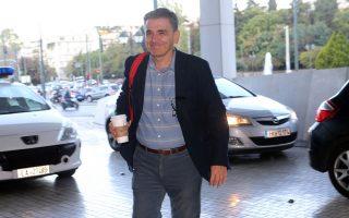 Ο υπουργός Οικονομικών Ευκλείδης Τσακαλώτος προσέρχεται για τη συνάντησή του με τους θεσμούς, στην Αθήνα, Παρασκευή 27 Οκτωβρίου 2017. Συνεχίζονται οι συζητήσεις του οικονομικού επιτελείου της κυβέρνησης με τους επικεφαλής των θεσμών για την τρίτη αξιολόγηση. ΑΠΕ-ΜΠΕ/ΑΠΕ-ΜΠΕ/Παντελής Σαίτας