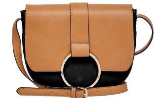 Δερμάτινη τσάντα σε ταμπά με μαύρο €70,54