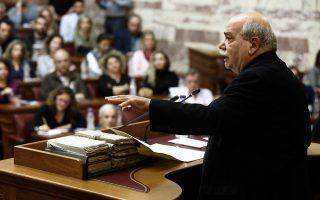 Ο κ. Ν. Βούτσης, σε μια προσπάθεια να απαντήσει στην κριτική που δέ-χθηκε από την αντιπολίτευση, κατέθεσε στην Ολομέλεια τα πρακτικά της διάσκεψης των προέδρων, της συνεδρίασης της 22ας Νοεμβρίου.