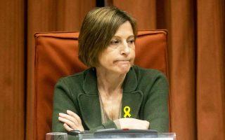 Η αποφυλακισθείσα πρόεδρος της διαρκούς επιτροπής της καταλανικής Βουλής Κάρμε Φορκαντέλ.