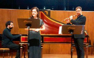 Η μεσόφωνος Θεοδώρα Μπάκα, ο φλαουτίστας Δημήτρης Κούντουρας και ο τσεμπαλίστας Πάνος Ηλιόπουλος ερμηνεύουν μουσική του Χέντελ.