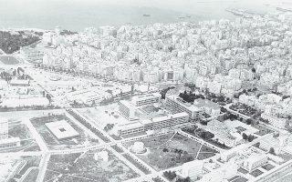Αποψη της πανεπιστημιούπολης και της ΔΕΘ, 1970 (Πηγή: Θεσσαλονίκη. Τεκμήρια Φωτογραφικού Αρχείου 1900-1980).