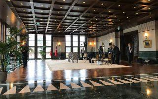 Η αίθουσα όπου ο Ταγίπ Ερντογάν έδωσε τη συνέντευξη στον Αλέξη Παπαχελά ήταν πραγματικά μεγαλοπρεπής.